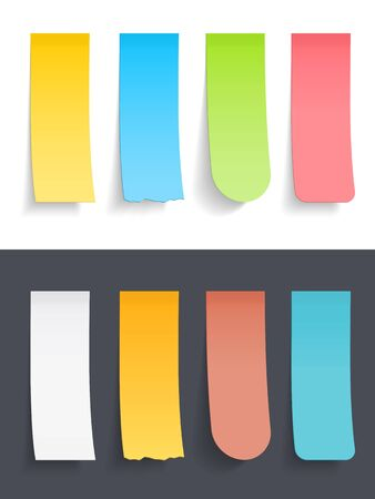 sticky: Colored vertical sticky notes set