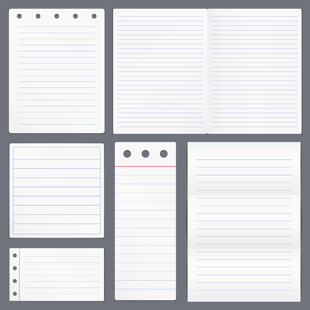 lined paper: Blank Lined Paper Illustration