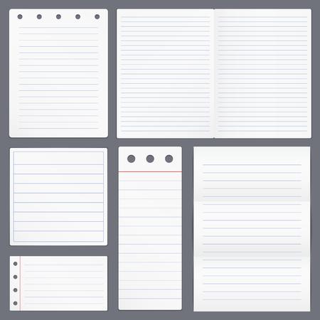 Blank Lined Paper Illustration