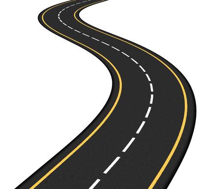 asphalt: Asphalt road on white background