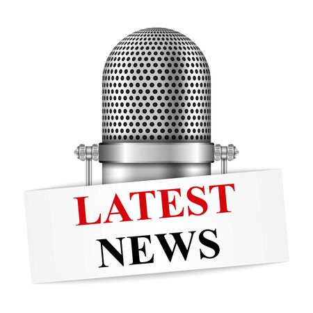 latest news: Microphone with latest news banner