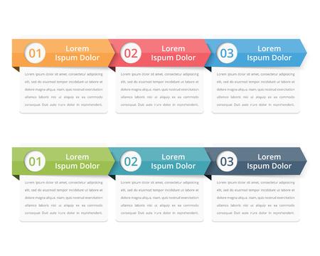Fluya plantilla de gráficos, elementos de la infografía diseño con los números y texto, infografía de negocio, flujo de trabajo, los pasos, las opciones