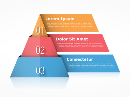 Pyramid Chart With Four Elements With Numbers And Text Pyramid