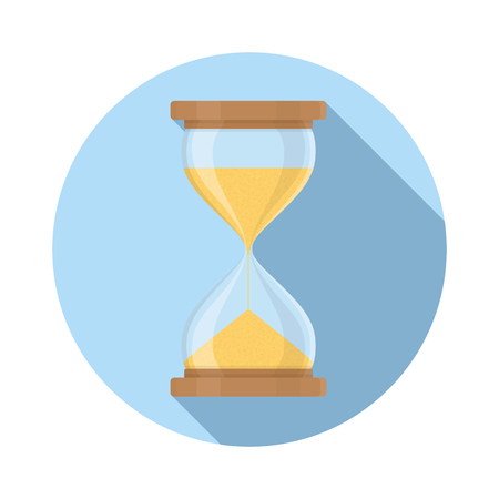 Transparent sandglass icon set, time hourglass, sandclock, flat design