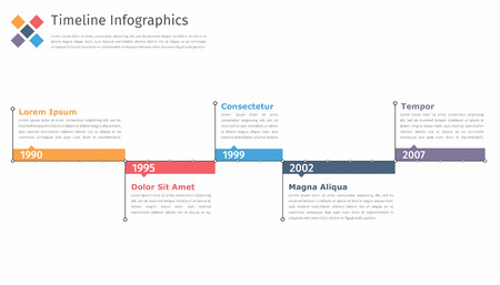 Timeline infographics template, flowchart, workflow or process infographics