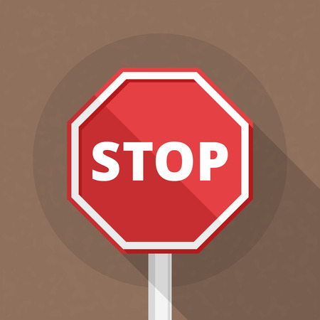 highway signs: Stop sign, flat design