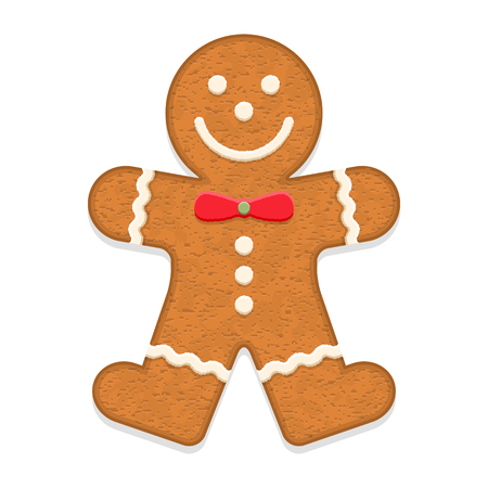 fancy pastry: Gingerbread man, traditional Christmas cookie