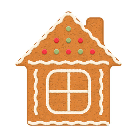 christmas cookie: Gingerbread house, traditional Christmas cookie
