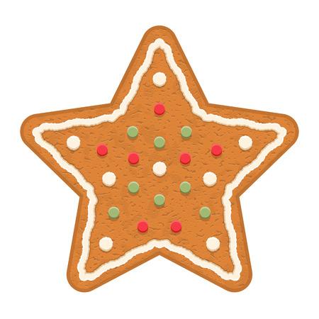 ginger cookies: estrella de pan de jengibre, galleta tradicional de Navidad