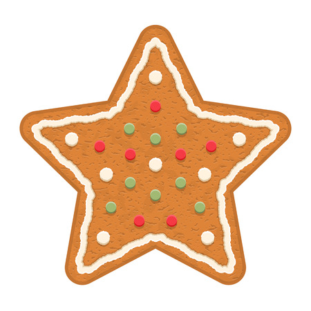 christmas cookie: Gingerbread star, traditional Christmas cookie