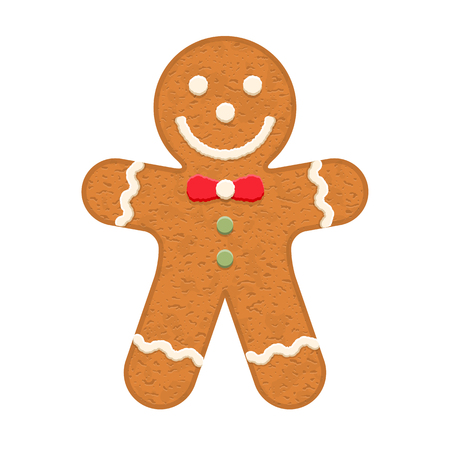 christmas cookie: Gingerbread man, traditional Christmas cookie