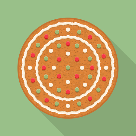 gingerbread cookie: Gingerbread circle, traditional Christmas cookie