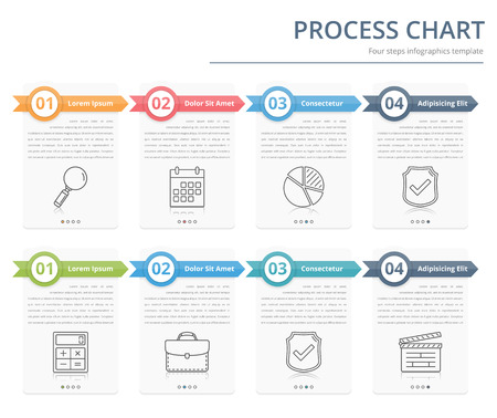 Process Chart Flow Chart Template Infographics Design Elements