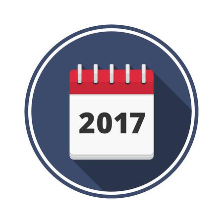 calendar icon: 2017 Calendar icon, flat design Illustration
