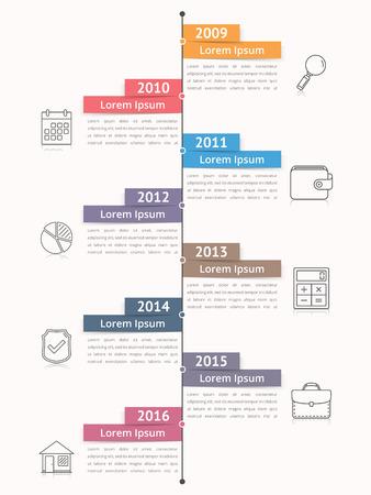 vertical bars: Vertical timeline infographics template, workflow or process diagram, flowchart Illustration
