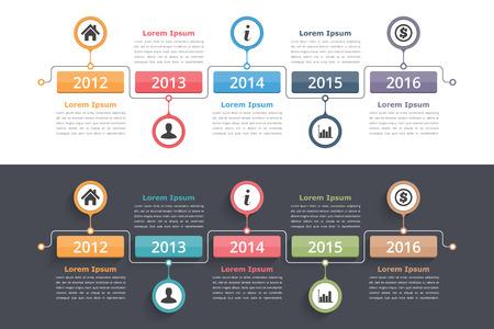 workflow: Timeline infographics design template, workflow or process diagram, flowchart