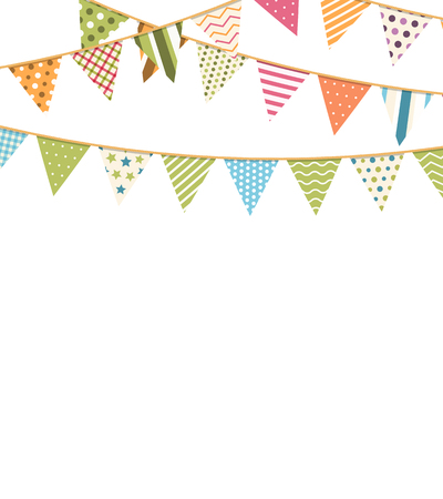 Background with colorful bunting flags
