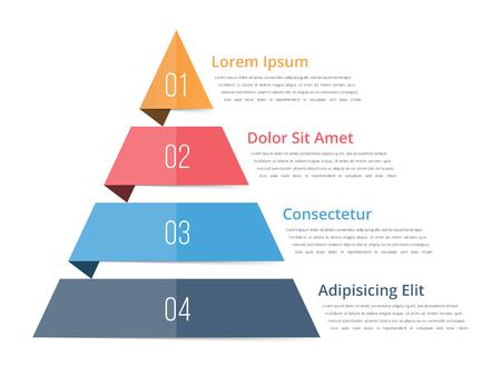 levels: Pyramid chart template Illustration