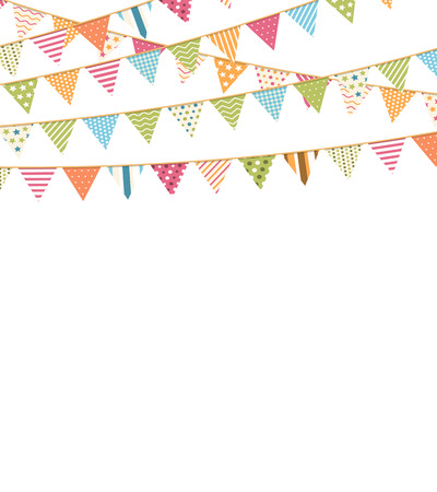 Background with bunting flags and place for your text