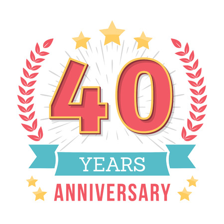40 Years anniversary emblem Illustration