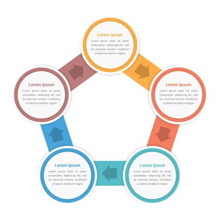 Circle infographic template with five elements steps or options 76433589 circle diagram infographic template with five steps or options workflow process vector eps10 illustration ccuart Images