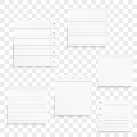 影で空白のホワイト ペーパー ノート