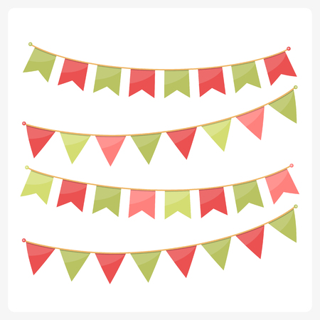 Colorful bunting for decoration of invitations, greeting cards etc.