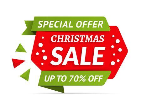 Christmas sale banner, special offer, vector eps10 illustration