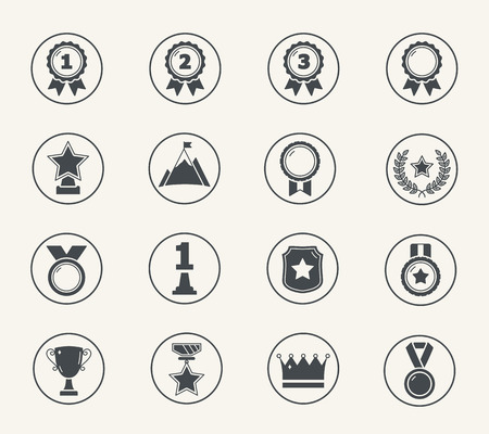 Set of medals and awards icons