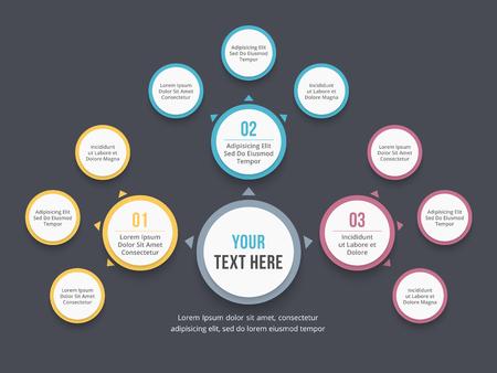 Absrtact mind map template, business infographics