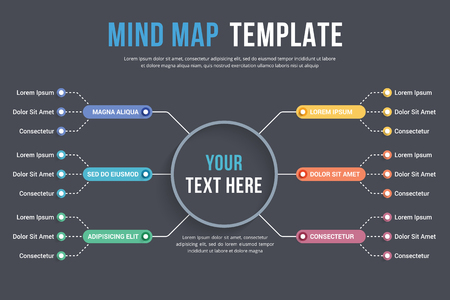 Absrtact mind map template, business infographics, vector eps10 illustration
