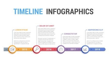 Timeline info-graphics template design, workflow or process diagram. Illustration