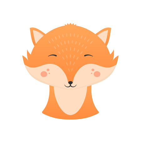 Cute fox with closed eyes