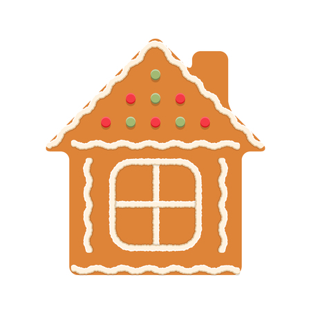 Gingerbread house, traditional Christmas cookie