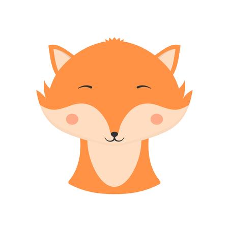 Cute fox with closed eyes