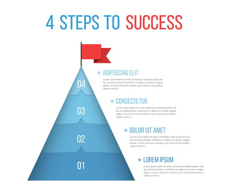 4 Steps to success, infographic template, vector eps10 illustration