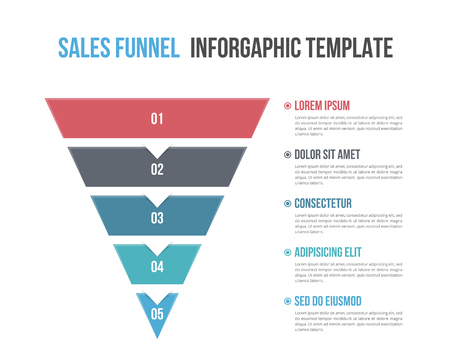 Funnel diagram, business infographic template