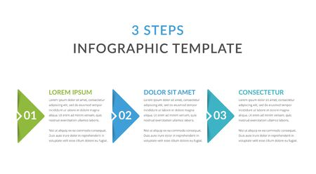 Infographic template with 3 steps, workflow, process chart, vector eps10 illustration Stock Illustratie