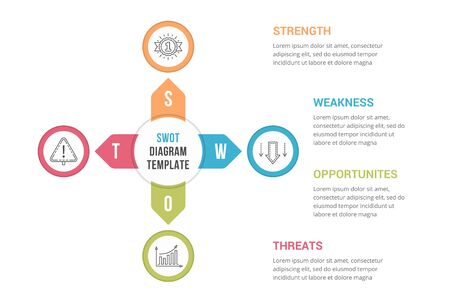SWOT Analysis, infographic template for web, business, presentations, vector eps10 illustration