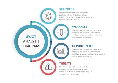 SWOT Analysis, infographic template for web, business, presentations, vector illustration