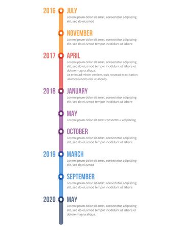 Vertical timeline infographics template, workflow, process chart, vector eps10 illustration