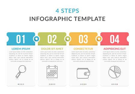 Infographic elements with numbers, icons and place for your text, workflow, process chart, steps or options, vector illustration