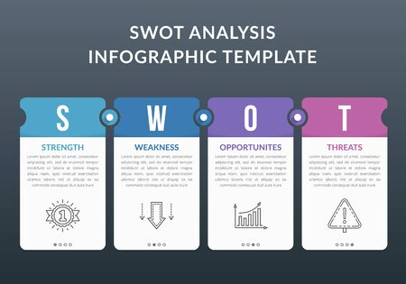 SWOT analysis diagram, infographic template with web, business, presentations, vector eps10 illustration