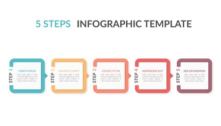Infographic template with five elements with numbers and place for your text, workflow, process chart, steps or options, vector eps10 illustration