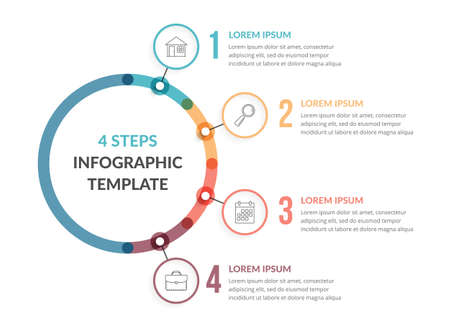 Diagram template with four steps or options, workflow, process chart, infographic template for web, business, presentations, vector eps10 illustration
