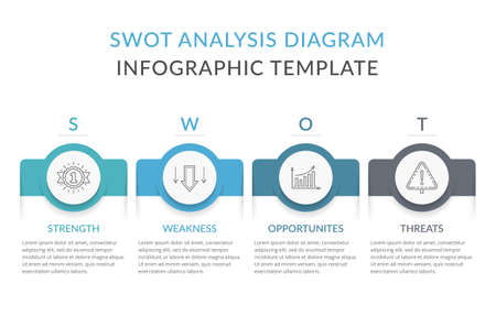SWOT analysis diagram, infographic template with web, business, presentations, vector illustration