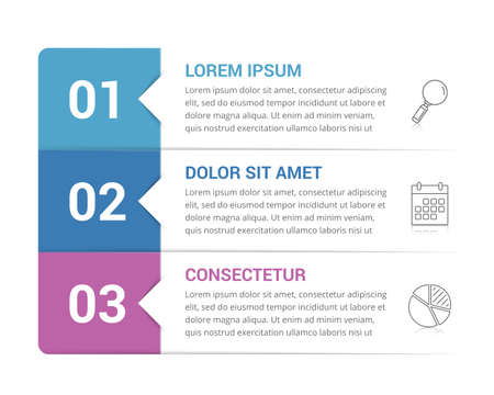 Infographic template with 3 steps, workflow, process chart, vector eps10 illustration 向量圖像