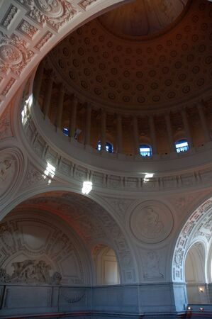 The interiors of San Francisco City Hall. photo