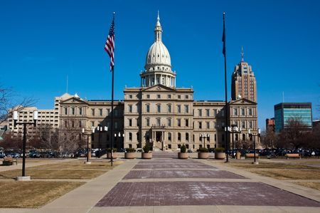 michigan: Michigan State Capitol Building. Lansing, MI, USA.