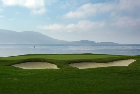 californian: Californian golf field and resort.